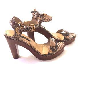 Ralph Lauren Collection Platform Sandals